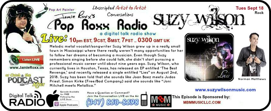 Pop Roxx Radio Snippet for Suzy's appearance