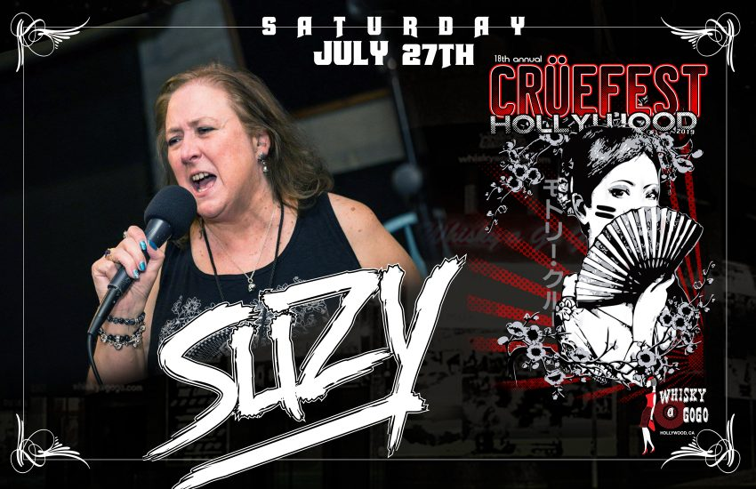 Suzy Live at Cruefest in Hollywood 2019 flyer